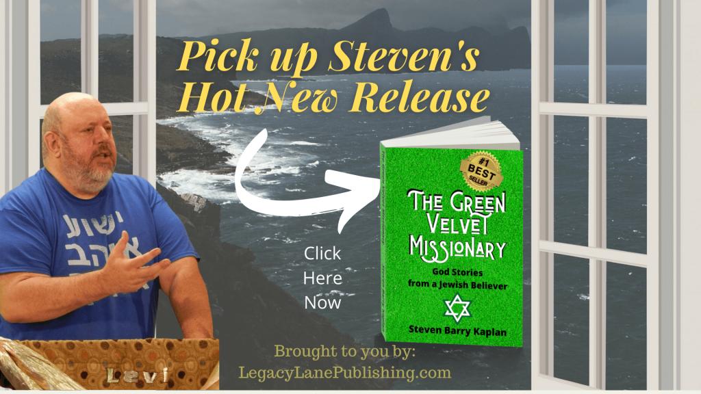 """Christian Evangelist, Steven Barry Kaplan's New Book """"The Green Velvet Missionary"""" hits Three Amazon Best Seller Lists"""